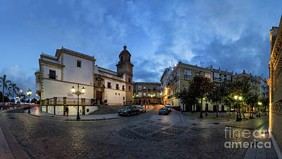 Photograph - Church Of Santo Domingo Panorama Cadiz Spain by Pablo Avanzini