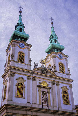 Buda Photograph - Church Of St Anne Budapest by Joan Carroll