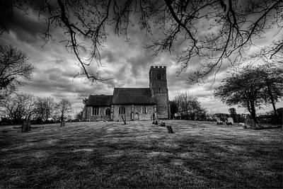 Church Of St Botolph Churchyard Art Print by Nigel Bangert