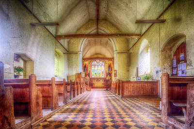 St Botolph St Digital Art - Church Of St Botolph Interior by Nigel Bangert