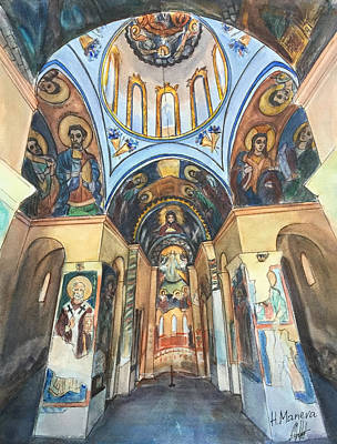 Orthodox Painting - Church Of St. George, Kyustendil, Bulgaria by Henrieta Maneva