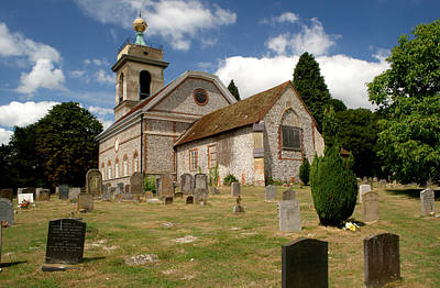 Photograph - Church Of St. Lawrence West Wycombe 3 by Chris Day