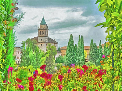 Digital Art - Church Of St. Mary Of The Alhambra by Digital Photographic Arts