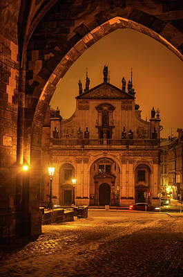 Photograph - Church Of St. Salvador. Prague. Golden by Jenny Rainbow