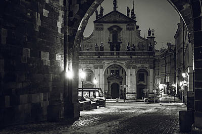 Photograph - Church Of St. Salvador. Prague. Monochrome by Jenny Rainbow