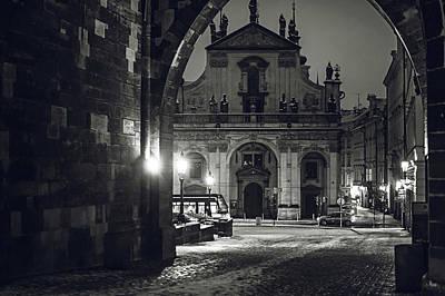 Photograph - Church Of St. Salvador. Prague. Monochrome by Jenny Rainbow
