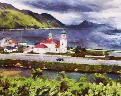 Digital Art - Church Of The Aleutians by Mario Carini