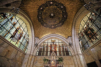 Religious Art Photograph - Church Of The Flagellation by Stephen Stookey