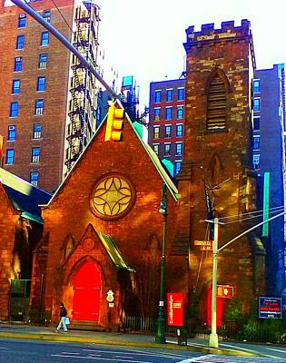 Digital Art - Church Of The Holy Communion by Aimee Fields