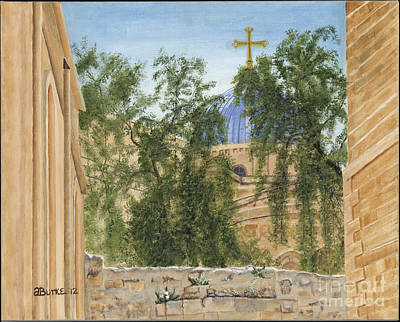 Via Dolorosa Painting - Church Of The Holy Sepulchre by Austin Burke