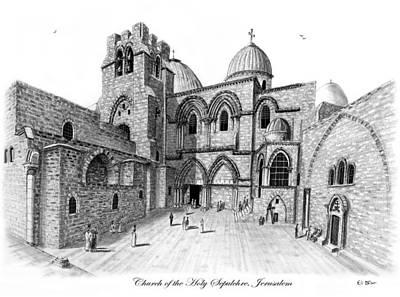 Church Of The Holy Sepulchre Original by Eli Ofir