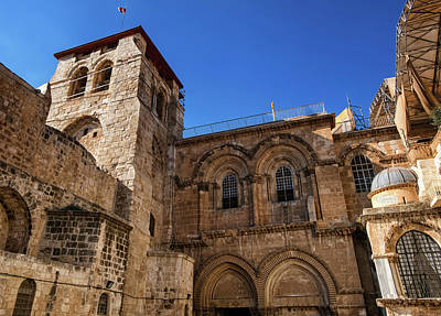 Photograph - Church Of The Holy Sepulchre, Jerusalem, Isreal by Elenarts - Elena Duvernay photo