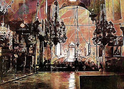 Digital Art - Church Of The Nativity Bethlehem by Dorothy Berry-Lound