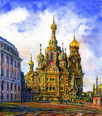 Painting - Church Of The Savior On Blood by John D Benson