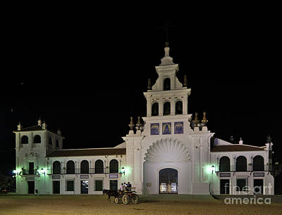 Photograph - Church Of The Virgen Del Rocio And Carriage. Spain by Angelo DeVal