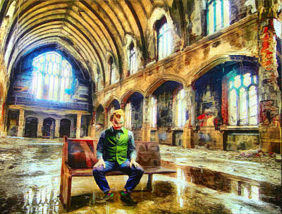 Old Home Place Digital Art - Church Of Thhe Joker by Mario Carini