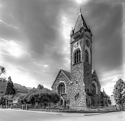 Stone Buildings Photograph - Church Of Walenstadt 2 by Mah FineArt