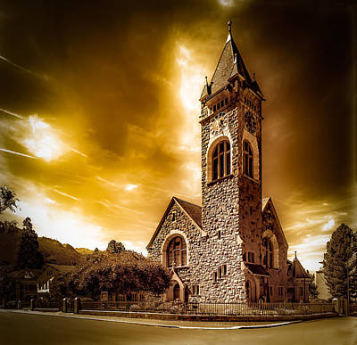 Stone Buildings Photograph - Church Of Walenstadt by Mah FineArt