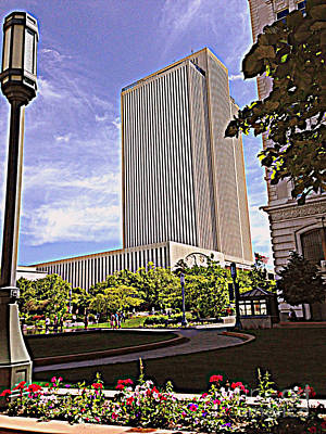 Photograph - Church Office Building The Church Of Jesus Christ Of Latter-day Saints by Richard W Linford