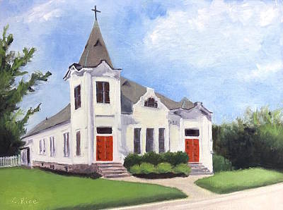 Painting - Church On 12th South, Nashville by Chris Rice