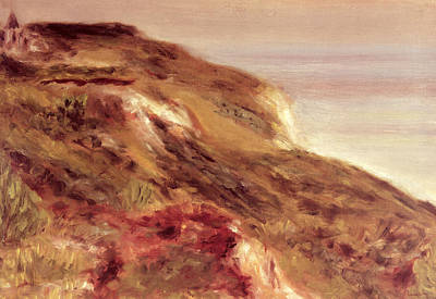 Sea View Painting - Church On A Clifftop by Pierre Auguste Renoir