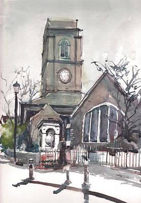 Painting - Church On Chelsea Embankment by Gaston McKenzie