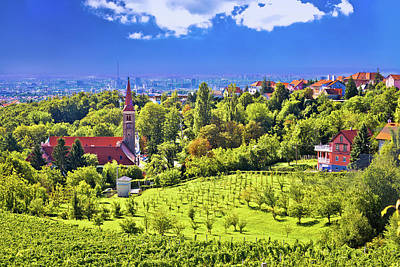 Photograph - Church On Green Hill Above Croatian Capital Zagreb by Brch Photography