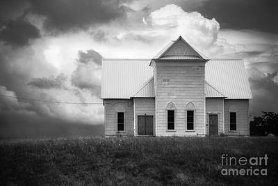 Photograph - Church On Hill In Bw by Imagery by Charly