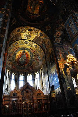 Photograph -  Church On Spilled Blood Interior by Jacqueline M Lewis