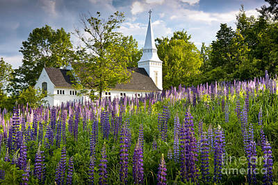 Grafton Photograph - Church On Sugar Hill by Susan Cole Kelly