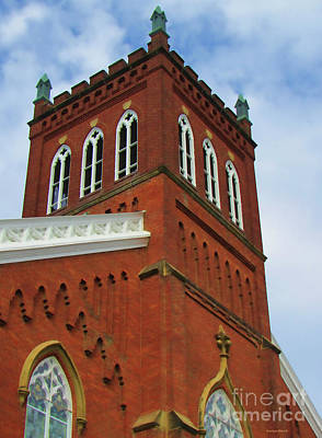 Photograph - Red Brick Church On The Corner by Roberta Byram