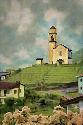 Jeff Painting - Church On The Hill by Jeffrey Kolker