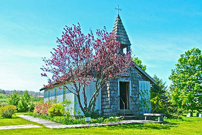 Church On The Hill Photograph - Church On The Hill Of White Pine Village-michigan by Ruth Hager