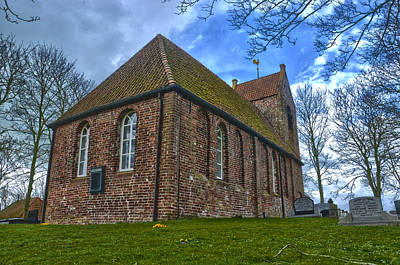 Church On The Mound Of Oostum Art Print by Frans Blok