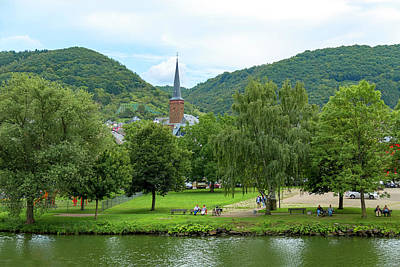 Photograph - Church On The Rhine River, Germany by Kay Brewer