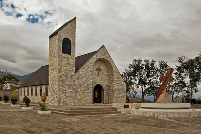 Photograph - Church On Top Of The Mountain - 1 by Hany J