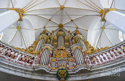 Photograph - Church Organ With Gold Ornament by Vyacheslav Isaev