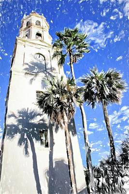 Photograph - Church Palm Reflections by Alice Gipson