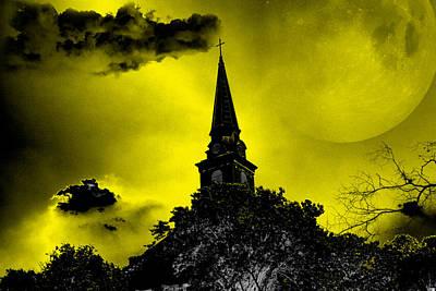 Spooky Digital Art - Church by Patricia Motley