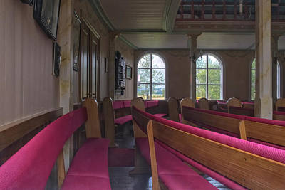 Photograph - Church Pews by Tom Singleton