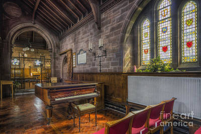 Christian Sacred Photograph - Church Piano by Ian Mitchell