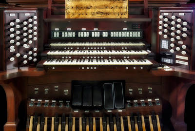 Piano Photograph - Church Pipe Organ by Susan Candelario