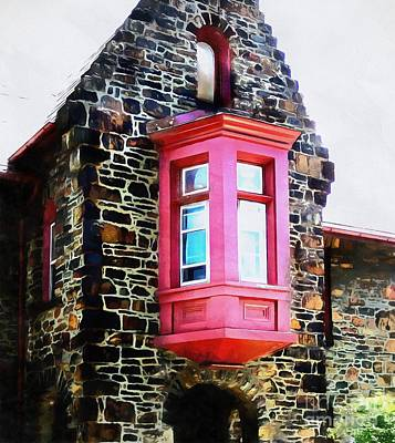 Photograph - Church - Red Window Bethlehem Pa by Janine Riley