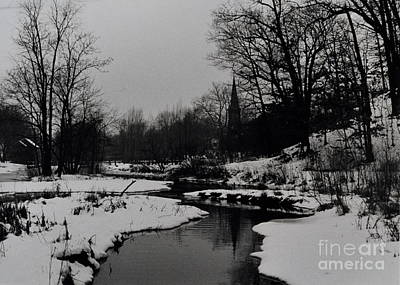 Snowy Brook Photograph - Church, Richmondtown, Staten Island by Anthony Butera