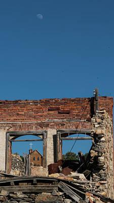 Photograph - Church Ruins 2 Belmont Nevada by Lawrence S Richardson Jr