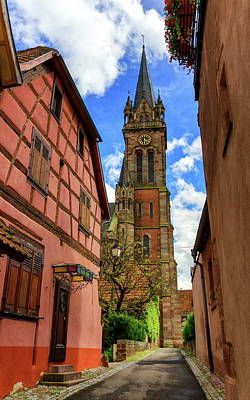 Photograph - Church Saint-etienne In Dambach-la-ville, Alsace, France by Elenarts - Elena Duvernay photo
