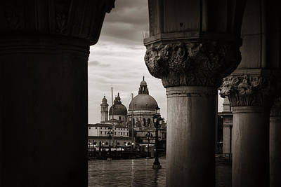 Photograph -  Church Santa Maria Della Salute And Column by Songquan Deng