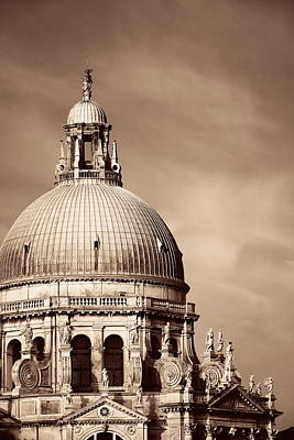 Photograph - Church Santa Maria Della Salute Closeup by Songquan Deng
