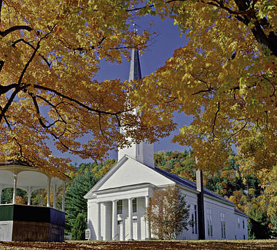 Photograph - Church, Sharon Vermont by Gary Shepard