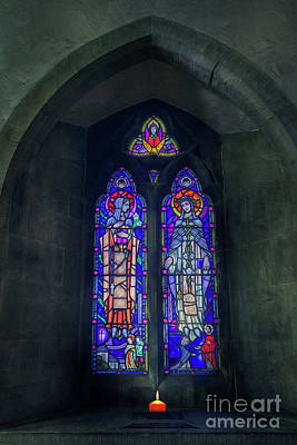 Photograph - Church Stained Glass Window by Ian Mitchell